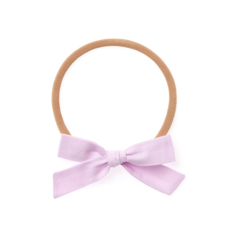 La Petite Handtied Bow // Clouds - Headband or Clip