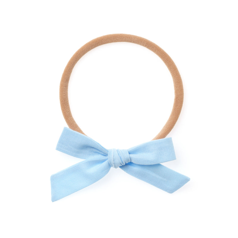 La Petite Handtied Bow // Breeze - Headband or Clip