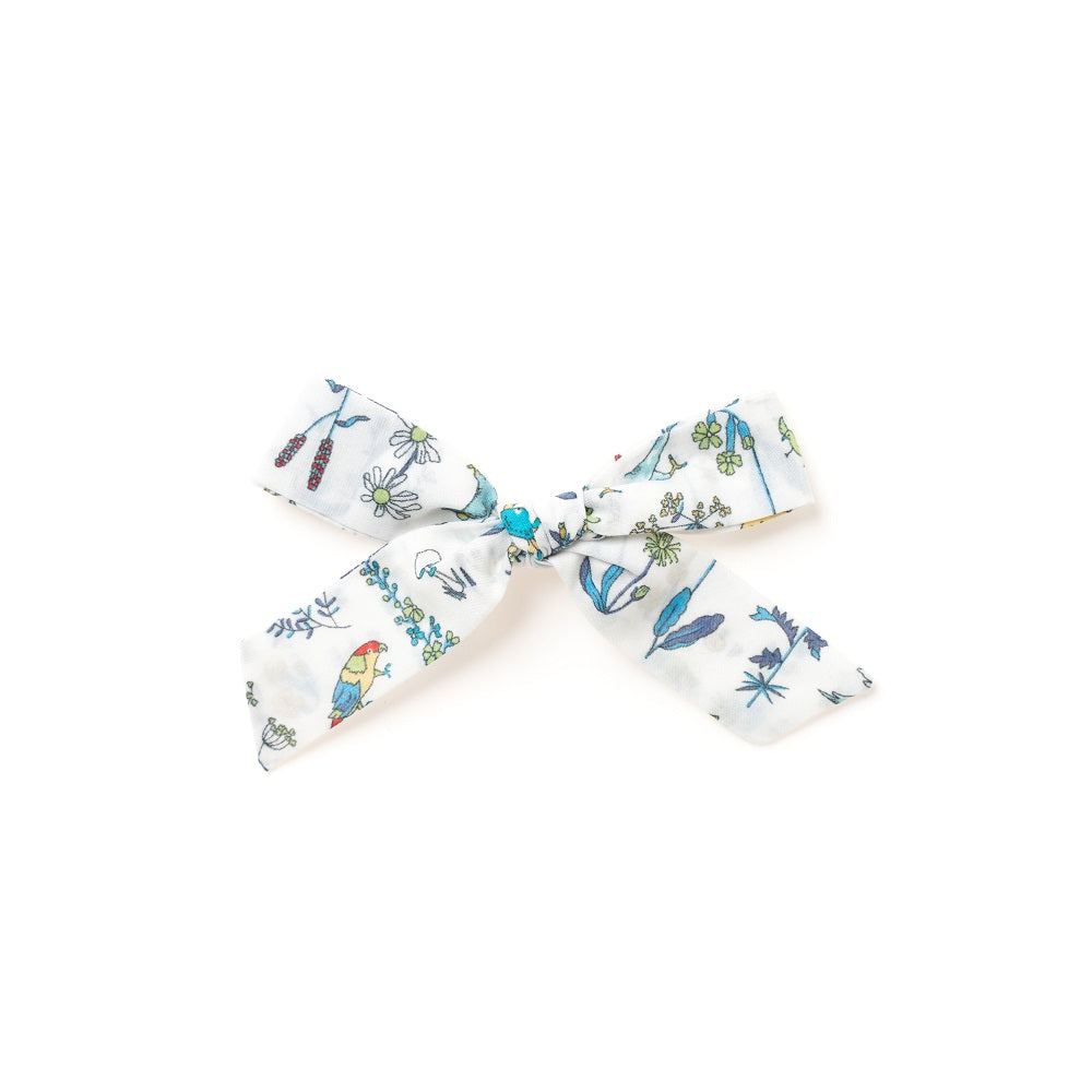 The Lucy Handtied Medium Bow // Lily Pond
