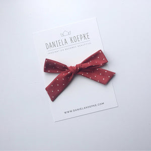 The Lucy Handtied Medium Bow // Peppermint Dot