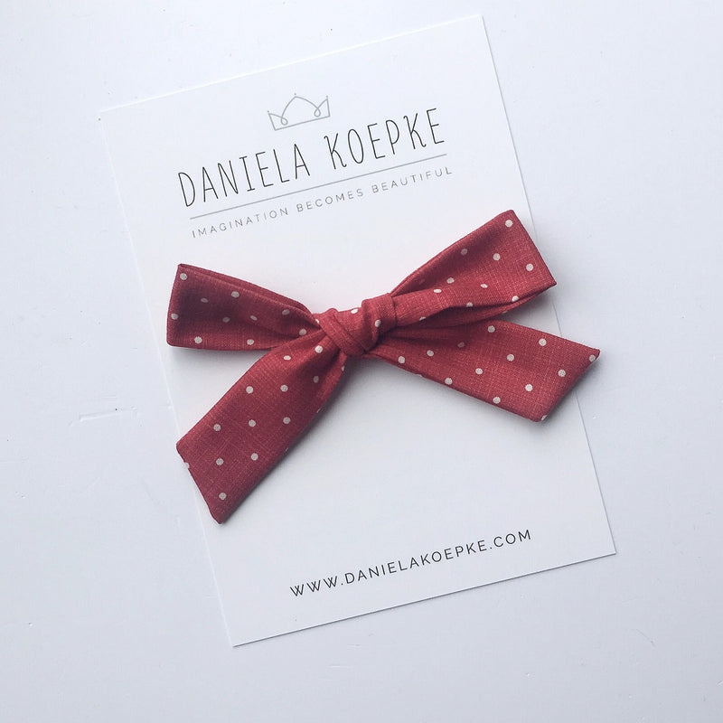 La Grande Oversized Handtied Bow // Peppermint Dot
