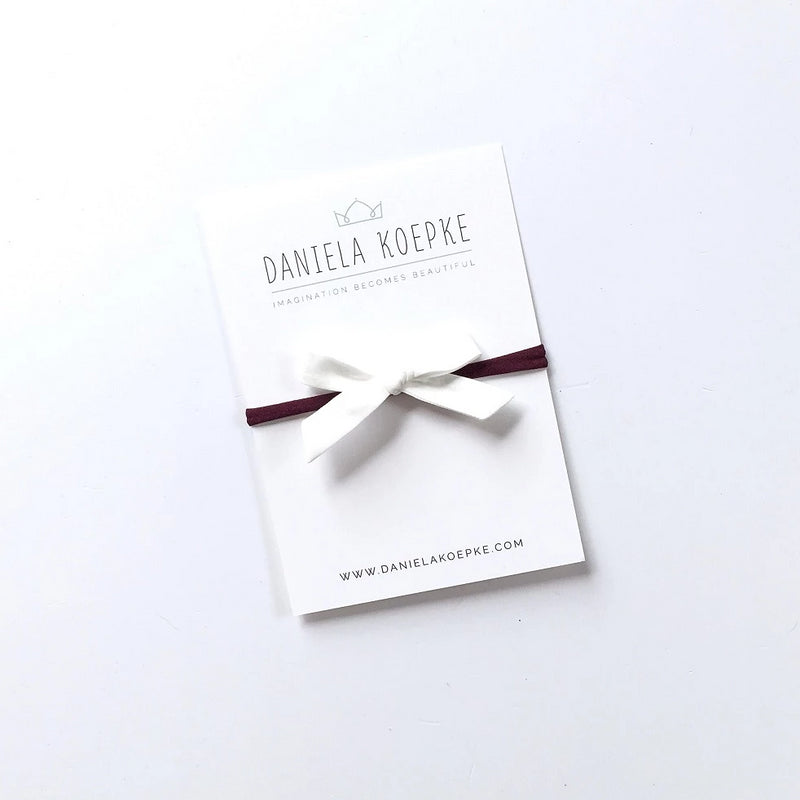 La Petite Handtied Bow // Milk - Headband or Clip