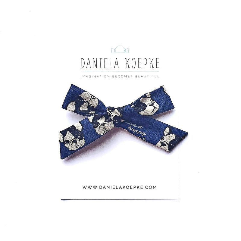 La Grande Oversized Handtied Bow // Coco in Blue