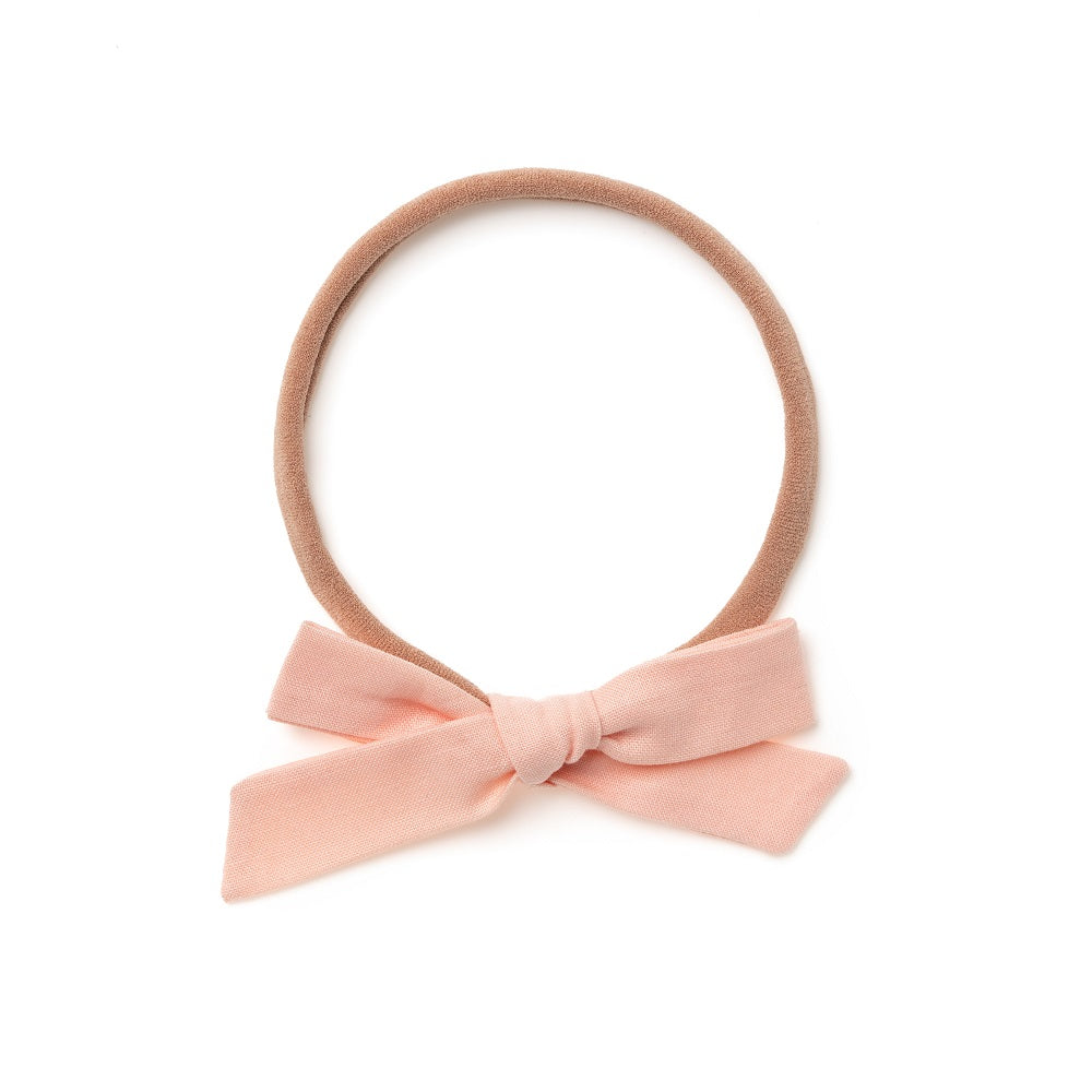 La Petite Handtied Bow // Creamsicle - Headband or Clip