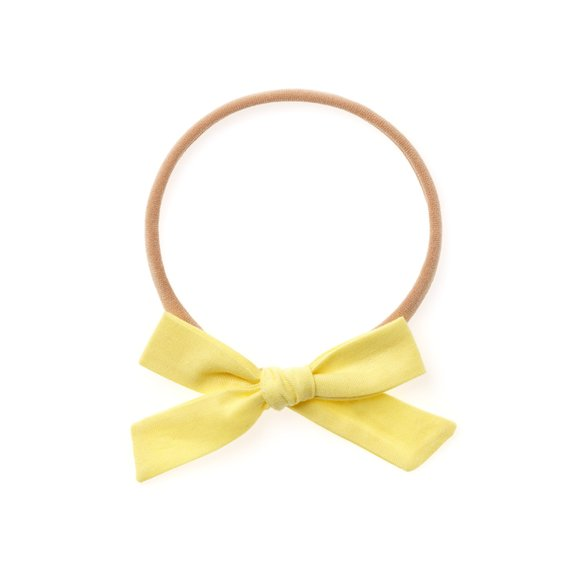 La Petite Handtied Bow // Butter - Headband or Clip