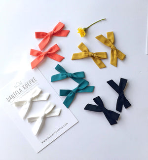La Petite Handtied Bow // Clay - Headband or Clip