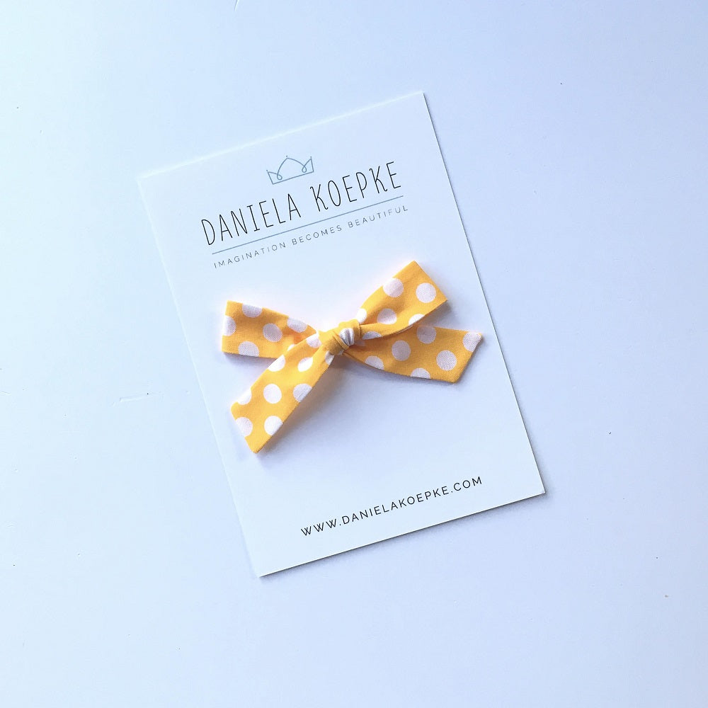 The Lucy Handtied Medium Bow // Mellow Dot