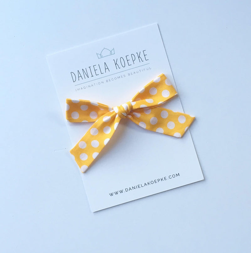 La Grande Oversized Handtied Bow // Mellow Dot
