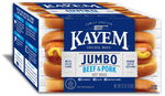 Kayem Beef & Pork 16 Jumbo Hot Dogs 2 lb Box