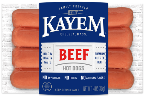 Kayem Beef Hot Dog 14 oz Package