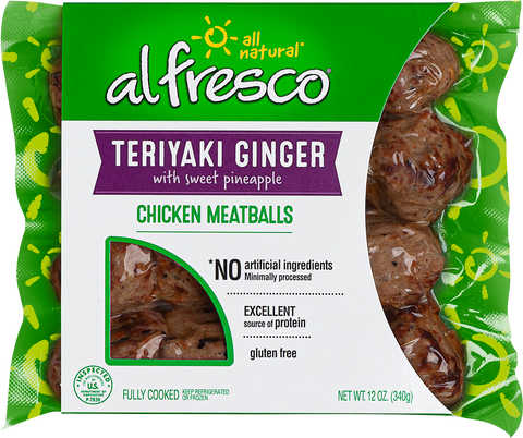 al fresco Chicken Meatballs Teriyaki Ginger