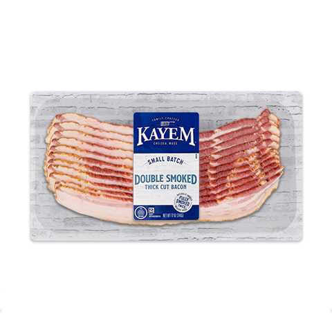 Kayem Double Smoked Thick Cut Bacon 3/12 oz packages