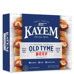 Kayem Old Tyme Beef 16 Franks 2 lbs box