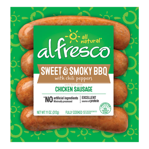 al fresco Chicken Sausage Sweet & Smoky BBQ