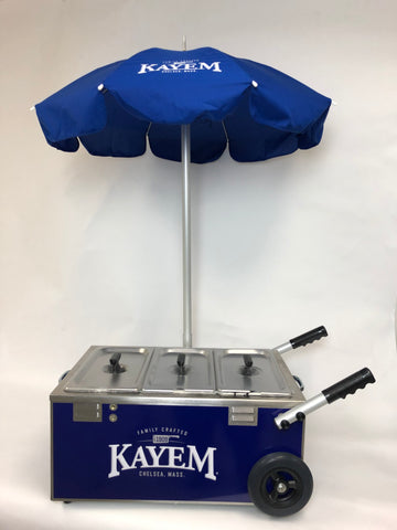 Kayem Tabletop Mini Electric Steamer Cart