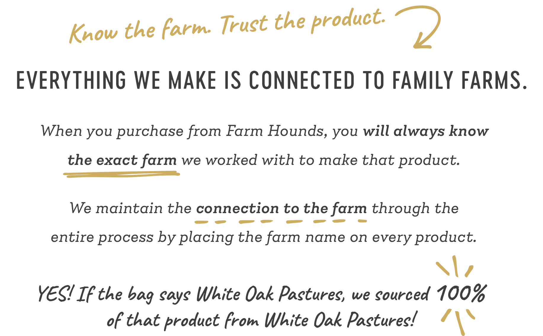 Everything we make is connected to family farms