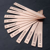 Garden Markers, Copper, Gardener Gift, Popsicle Sticks, Set of 5, FAM10007