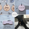 Engraved dog tag, personalized pet identification collar tag