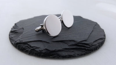 Laser Engraved Personalized Cufflinks, Men's, Custom , Modern Gift for Him, For Couples, Anniversary Keepsake, LGC10200