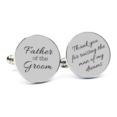 Laser Engraved Personalized  Cufflinks, Stainless Steel Cuff links, Gift for Him, Father of the Bride, Wedding Keepsake, LGC10195