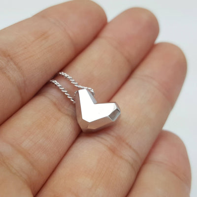 Personalized Necklace, Valentine's Gift, Gift for Wife, Gifts for Mom, For Girlfriend, For Her, Love Heart, Sterling Silver, SEGC10010