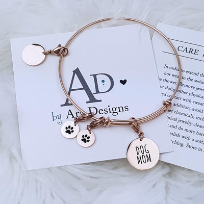 Personalized Pet Bracelet Dog Mom Gift Personalized Jewelry Personalized Bracelet Charm Anniversary Gift for Her Wife Mom, LXJC100139
