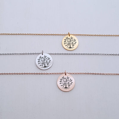 Family Tree Necklace, Personalized Wedding, Gift for Mom, For Mother in Law, Christmas Gifts, For Mother of the Bride, LGC10353