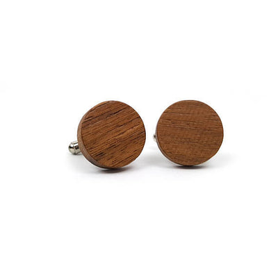 Laser Engraved Personalized Cufflinks, Heart Carving, Wood, Wedding Date, Custom Initials, Cuff links, Gift for Men, for Him, TBC10071