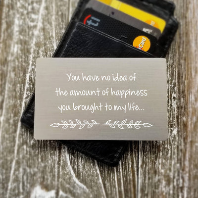 Gift for Wife Sentimental Gift for Her Custom Wallet Insert Card Metal Personalized Wallet Card Metal Wallet Insert Dad Gift for Women
