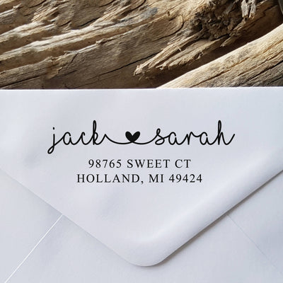 Return Address Stamp, Personalized Gift, Wedding Invitation, Pre Inked, Self Inking, RSVP Label, Couple Gift, IGC10006