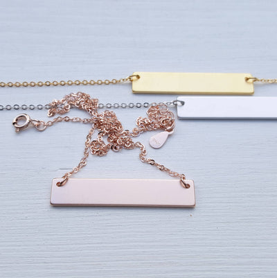 Engraved Personalized Bar Necklace, Gift for Mom, Mama Bear, Gold, Silver, Custom Cubs, Mother Gifts for Her, SEGC10005