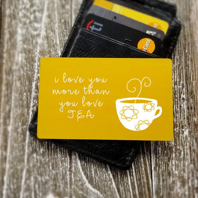 Tea Lover Gift Tea Drinker Personalized Wallet Card Custom Wallet Insert Card Metal Dad Gift for Men Gift for Him Gift for Groom from Bride