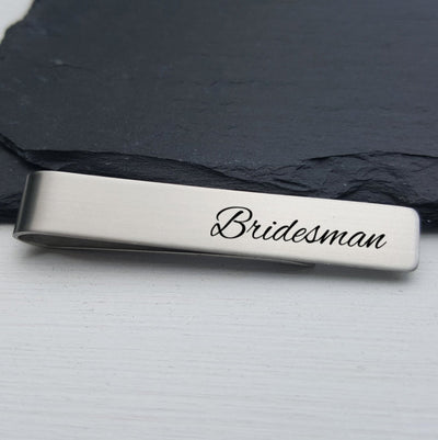Laser Engraved Mens Tie Bar, Personalized Gifts, Custom Clip, For Him, Wedding Keepsake, Bridesman Gift, LGC10019