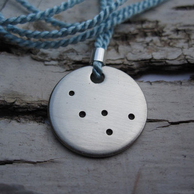 Laser Engraved Constellation Necklace, Cassiopeia, Nickel Tag, Dainty Pendant, Charm Bracelet, Gifts for Her, Gift for Women, LGC10023