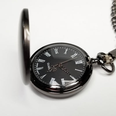 Laser Engraved Personalized Pocket Watch, Matte Black, Gift for Her, For Wedding Party, For Bridesmaid, LGC10330