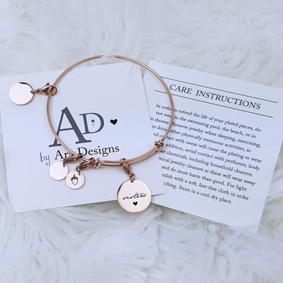 Laser Engraved Sisters Gift, Nuts from Same Tree, Acorn, Personalized Charm Bracelet, Gift for Women, LXJC100136
