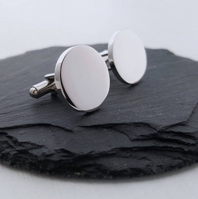 Laser Engraved Engraved Cufflinks, Round Cuff link, Dog Owner Gift, Paw Print for Dad, Father's Day Gift, LGCG10095