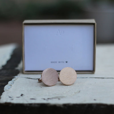 Laser Engraved Personalized Cufflinks, Mens 18K Rose Gold Plated, Custom Name Gift for Him, For Groom from Bride, LGC10413