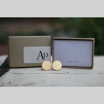 Personalized 18K Gold Plated Cufflinks, Custom Round Cuff links, Wedding Date and Initials, Gift for Groom From Bride, LGC10411
