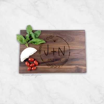 Laser Engraved Personalized Cutting Board, Wedding Gift for Foodie,  Charcuterie Server, Men and Women Cooks, LGC10469