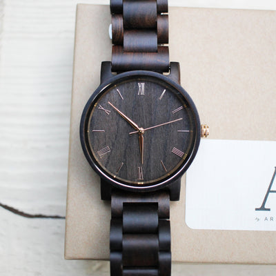 Laser Engraved Wedding Gift for Groom from Bride, Meaningful Wooden Watch for Men, Personalized Wood Jewelry, 5th Anniversary, TBC10061