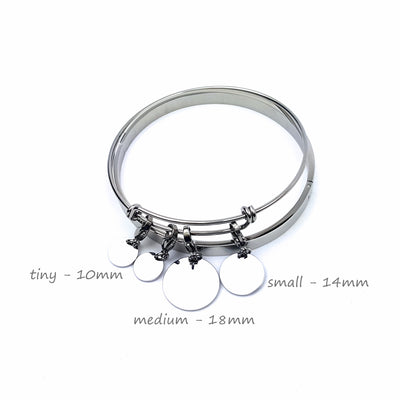 Laser Engraved Personalized Charm Bracelet, Gift for Women, Anniversary Present for Wife, For Best Friend, LXJC100214