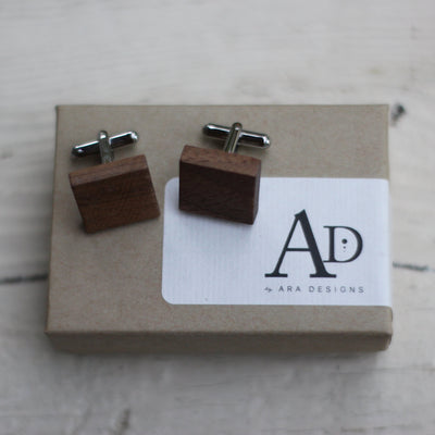 Personalized Wood Cufflinks, Initials, Custom Wooden Cuff links, Mens, Gift for Groom From Bride, Engraved Minimal Design, LGC10431