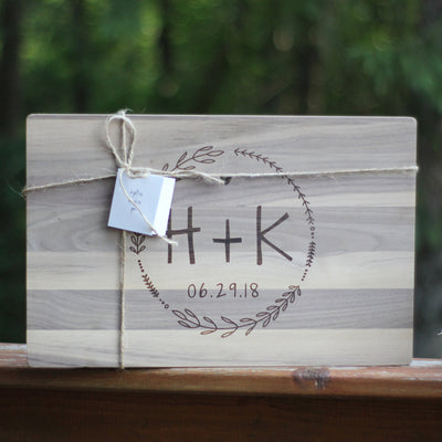 Laser Engraved Personalized Cutting Board, Wedding Gift for Foodie,  Charcuterie Server, Men and Women Cooks, LGC10465