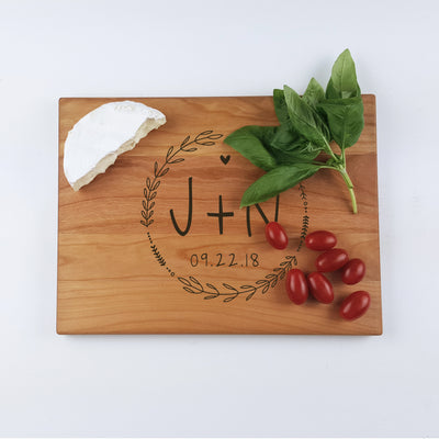 Laser Engraved Personalized Cutting Board, Wedding Gift for Foodie,  Charcuterie Server, Men and Women Cooks, LGC10467