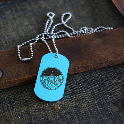 Laser Engraved Men's Dog Tag, Wedding Gift, Nautical Sailboat, Gifts For Him, Personalized Necklace, Custom Keychain, Key Chain, LGC10478