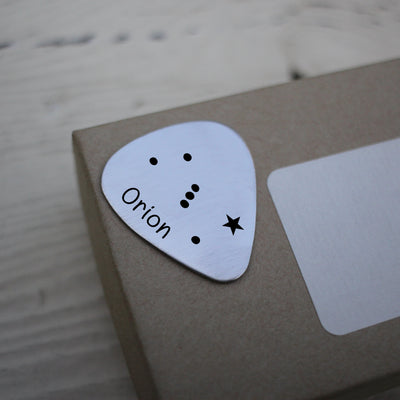 Laser Engraved Guitar Pick, Orion Constellation, Astronomer Gift, Personalized for Husband or Boyfriend, LGC10132
