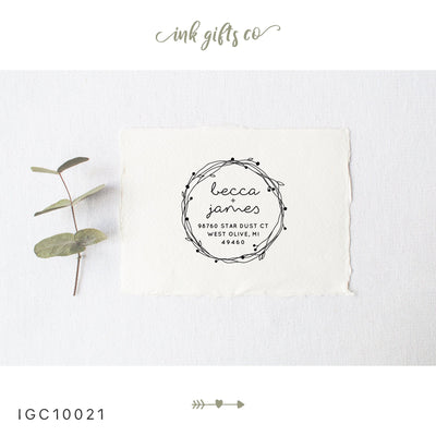 Return Address Stamp, Personalized Gift, Wedding Invitation, Pre Inked, Self Inking, RSVP Label, Couple Gifts, IGC10021