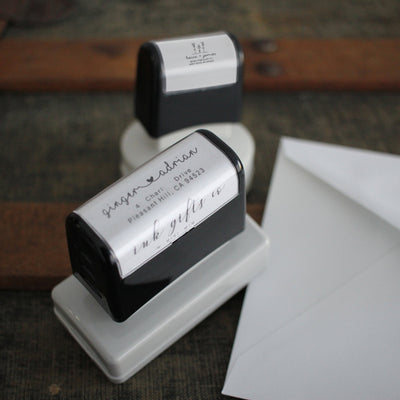 Return Address Stamp, Personalized Gift, Wedding Invitation, Pre Inked, Self Inking, RSVP Label, Couple Gifts, IGC10007
