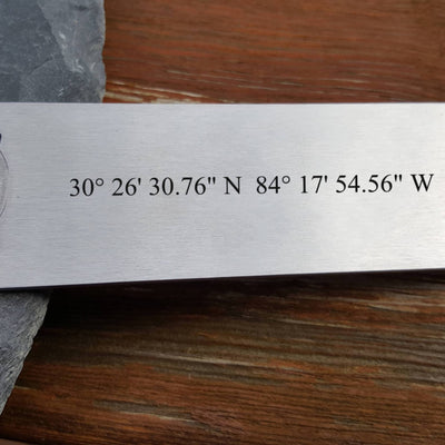 Laser Engraved Personalized Beer Bottle Opener, GPS Coordinates, Anniversary Gift, Wedding Location, For Hostess, LGC10318